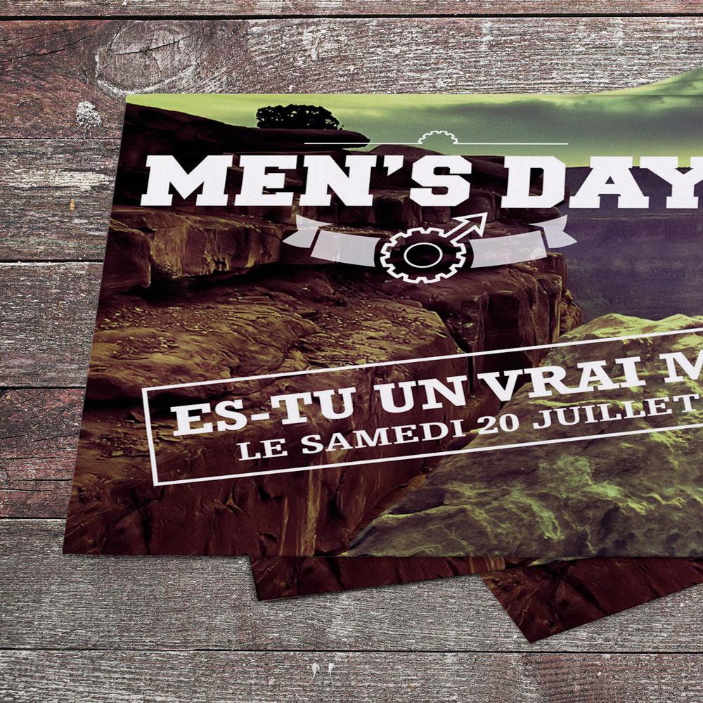 Création graphique flyers Men's Day